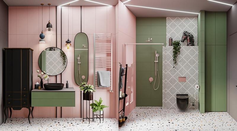 Đối với các nàng thì không gian phòng tắm là một nơi thư giãn, xả stress sau mỗi ngày đi làm mệt mỏi.