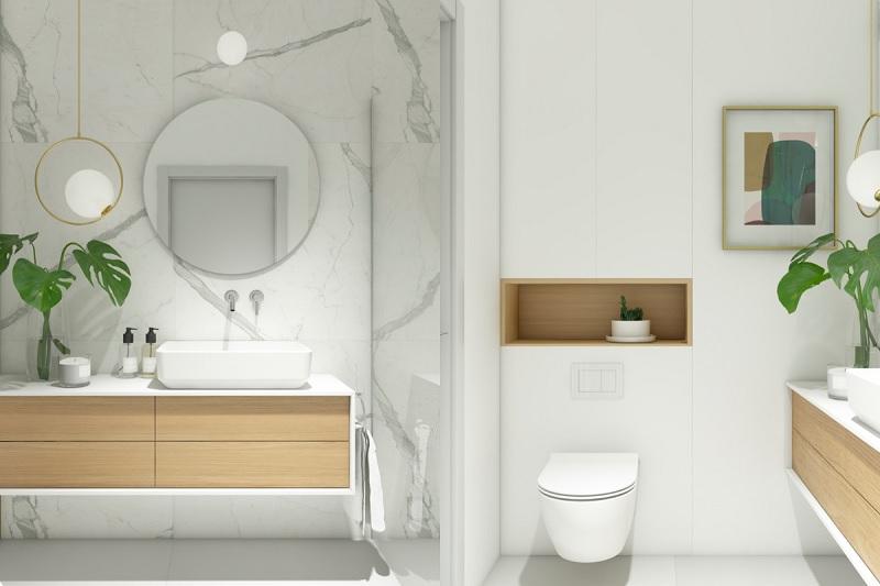 Hoặc nếu như bạn mới căn phòng trở nên ấm áp và nhẹ nhàng hơn thì màu nâu - trắng là sự lựa chọn phù hợp
