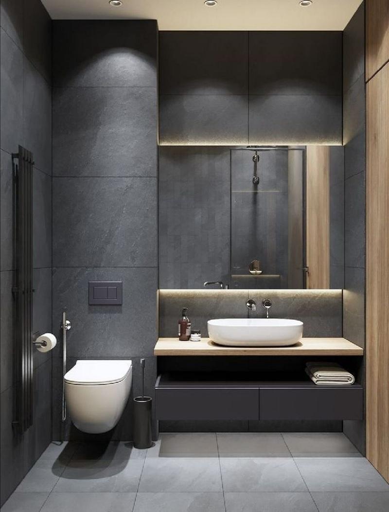 Mẫu phòng tắm mạnh mẽ cho các chàng