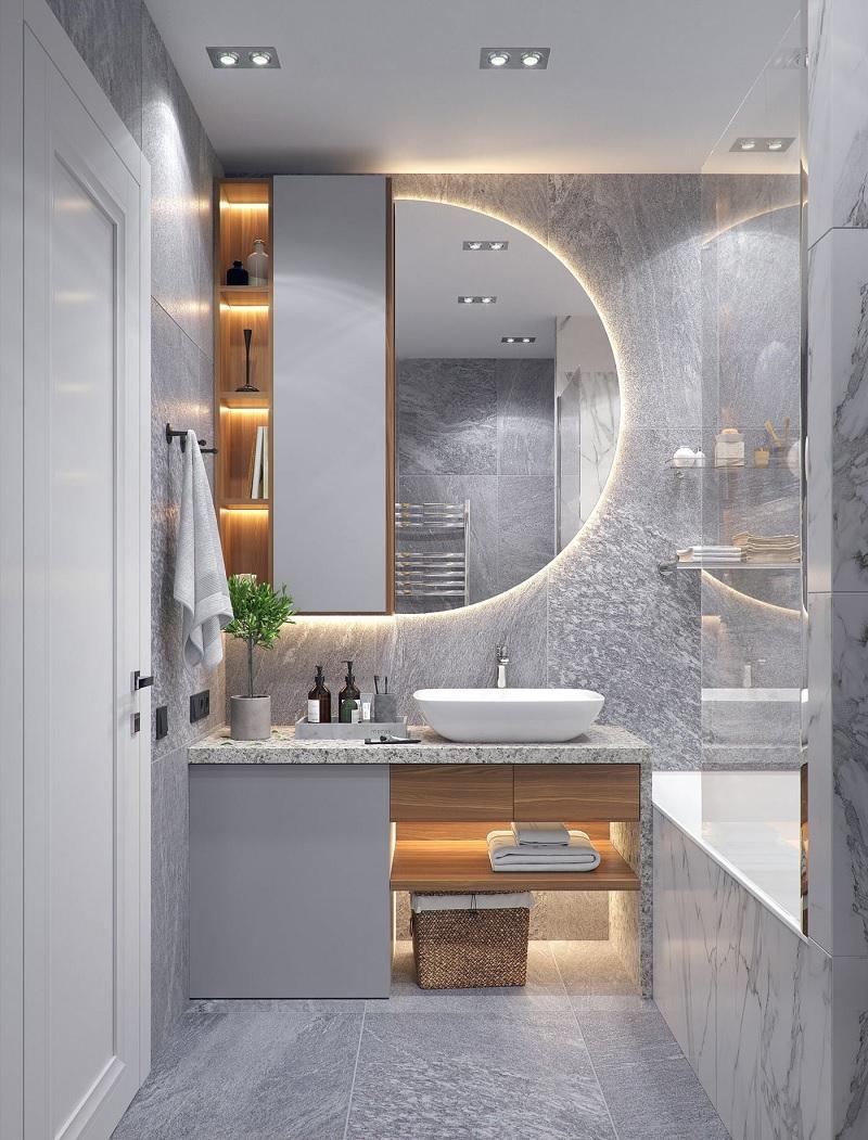 Mẫu phòng tắm với không gian nhỏ