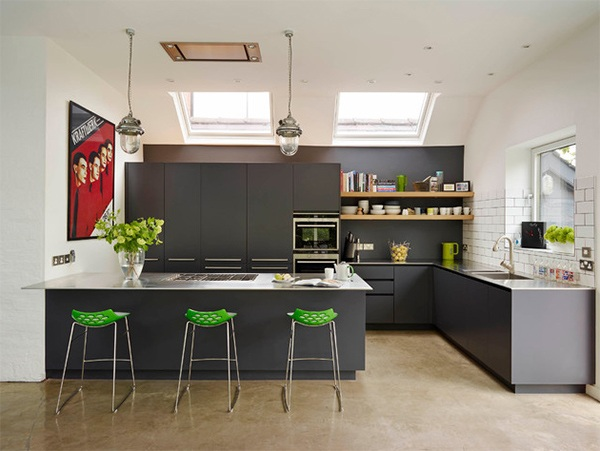 Không gian phòng bếp đơn giản