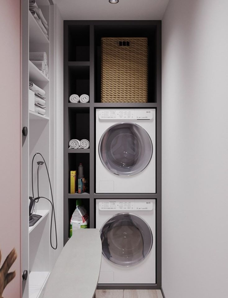 Thiết kế phòng giặt đồ tại không gian hành lang