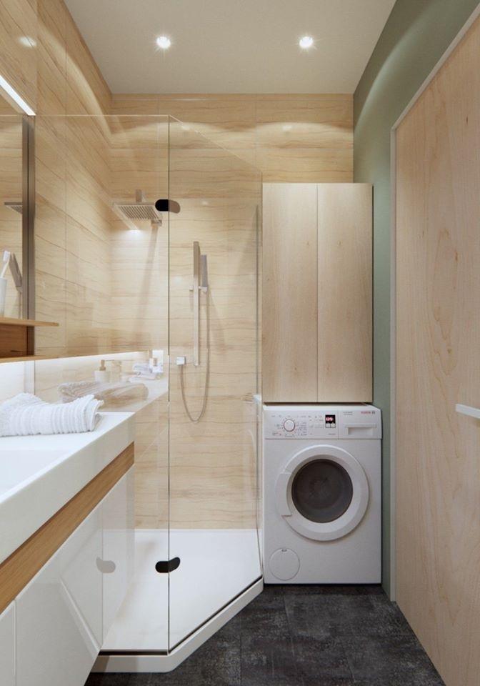 Lựa chọn góc phòng tắm khô ráo để đặt máy giặt