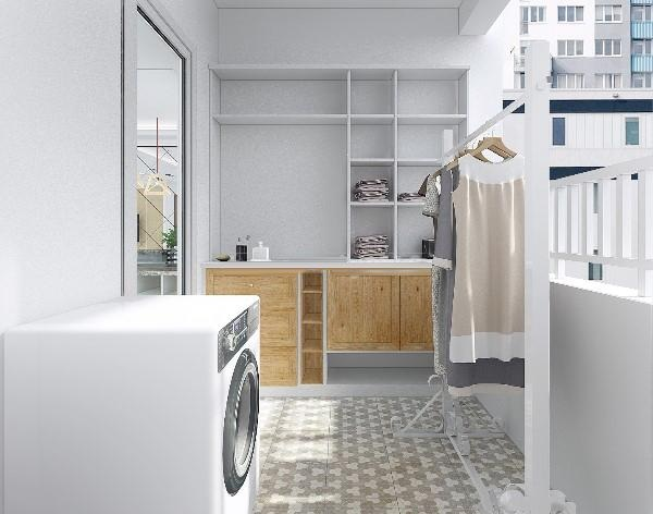 Không gian đa năng với thiết kế phòng giặt phơi đẹp