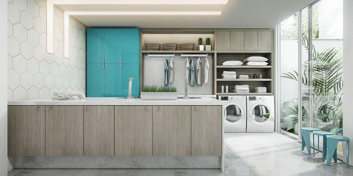 Phòng giặt phơi rộng lớn với thiết kế đa năng