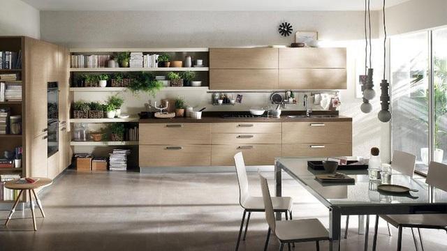 Phòng bếp ngập tràn ánh sáng, tạo sự thông thoáng