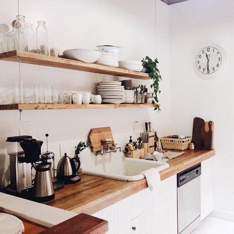 Mẫu thiết kế bếp nhỏ, gọn gàng, tinh tế cho căn hộ cấp 4