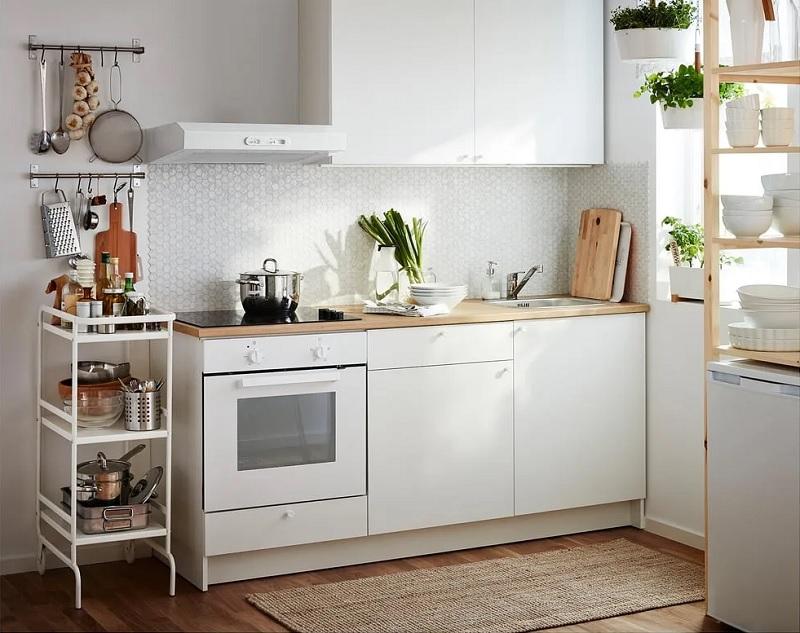 Thiết kế bếp nhỏ đẹp với tủ bếp chữ I