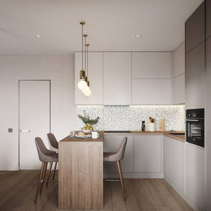 Thiết kế đảo bếp nhỏ, tận dụng diện tích