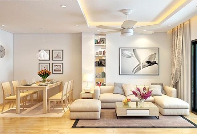 Không gian phòng khách với thiết kế phù hợp