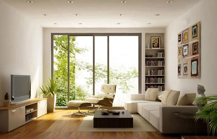 Không gian phòng khách thông thoáng hơn nhờ có ánh sáng tự nhiên