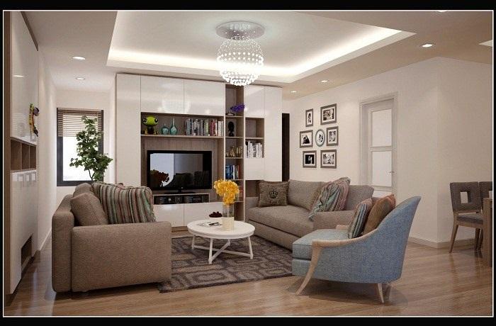 Thiết kế phòng khách đẹp mà đơn giản, hài hòa