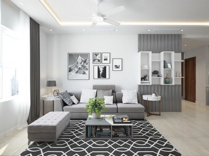 Phòng khách đơn giản, đẹp với phong cách hiện đại