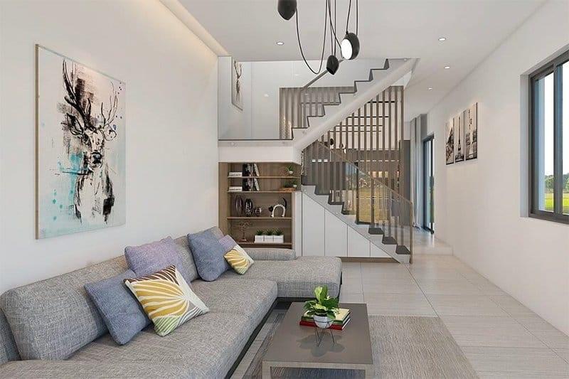 Thiết kế phòng khách đẹp nhà ống hiện đại