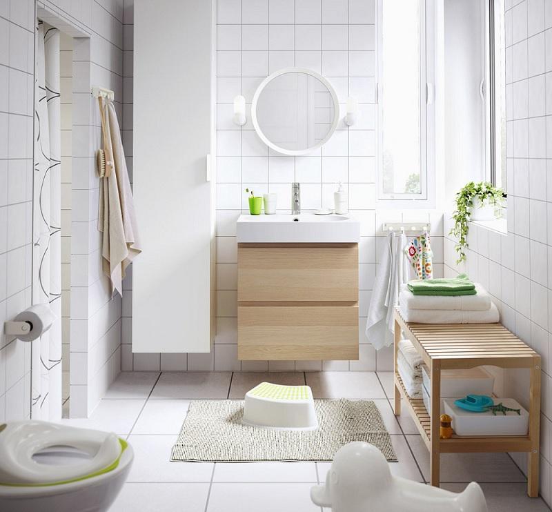 Ánh sáng là một yếu tố quan trọng giúp cho phòng vệ sinh nhỏ gọn của bạn được phóng đại lên nhiều lần