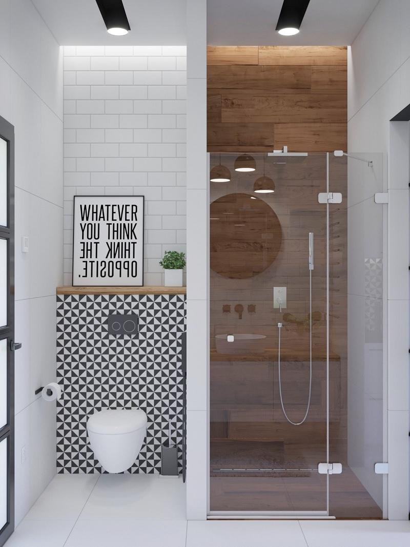 Mẫu thiết kế nhà vệ sinh vách kính