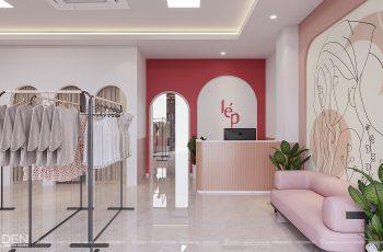 Thiết kế shop quần áo nữ thương hiệu LÉP