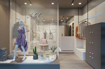 Mẫu thiết kế Shop quần áo nhỏ ZOE