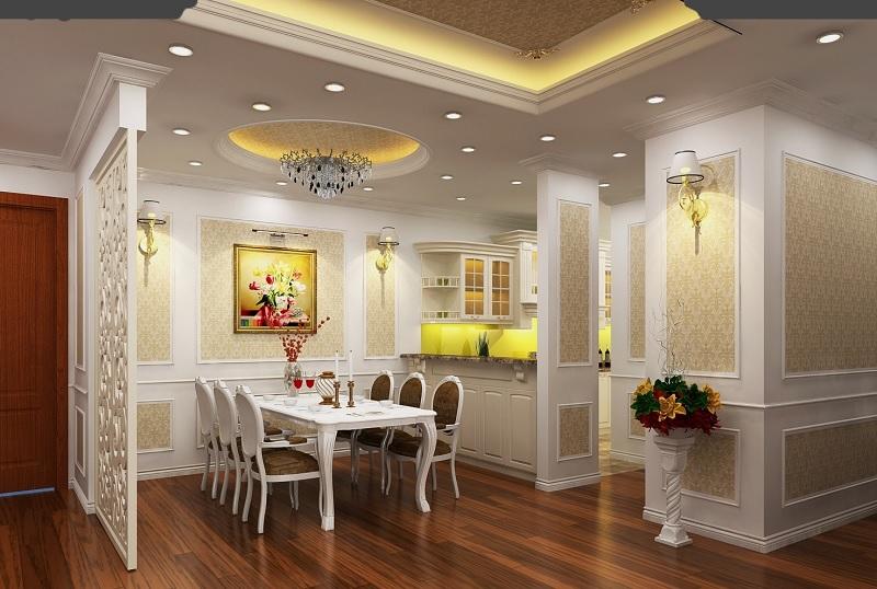Phong cách trang trí phòng bếp cổ điển