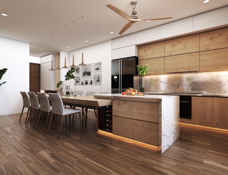 Phong cách trang trí phòng bếp Rustic mộc mạc