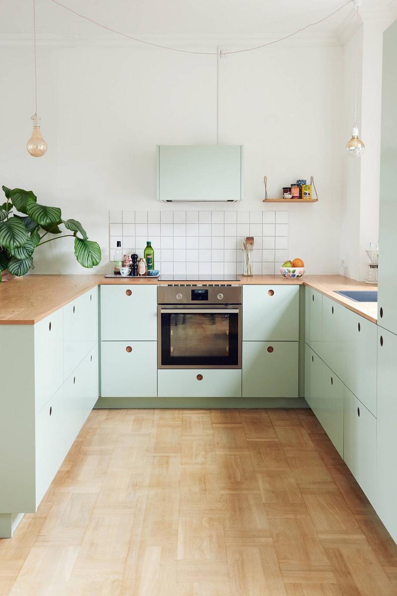 Phong cách trang trí phòng bếp trẻ trung màu Pastel