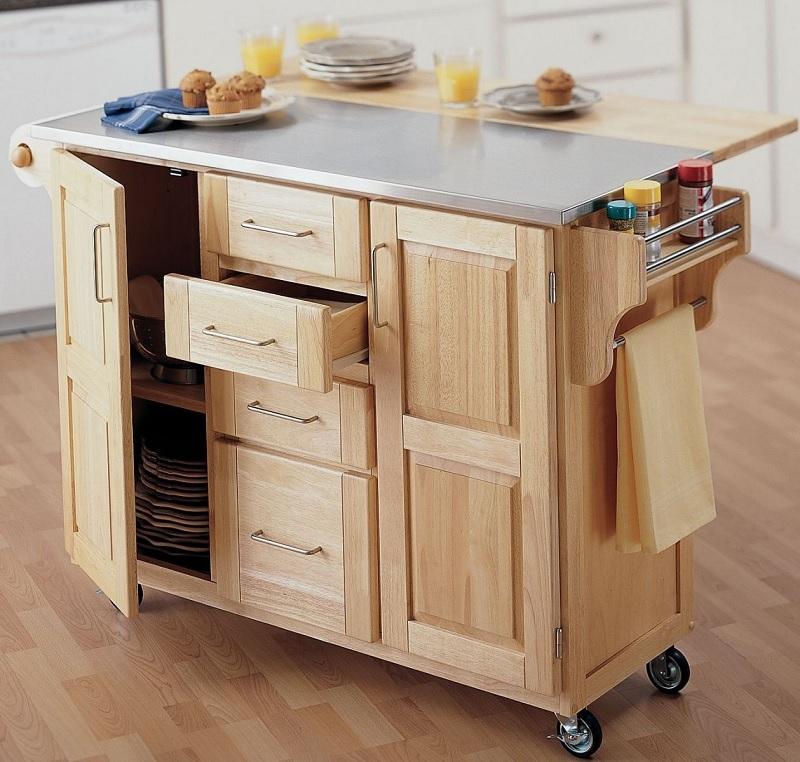 Ý tưởng thiết kế tủ bếp di động cho phong gian phòng bếp nhỏ