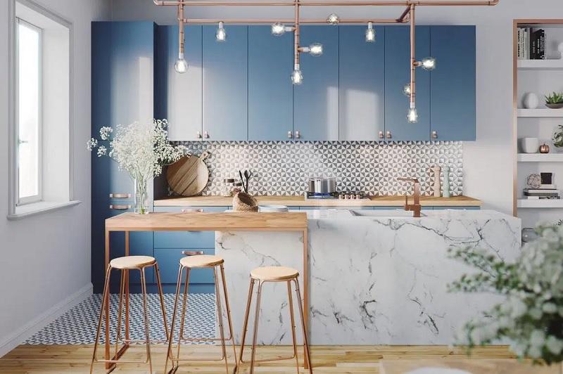 chỉ đơn giản là một cành cây cũng có thể giúp cho căn bếp trở nên ấn tượng hơn nếu như bạn biết đặt chúng vào đúng vị trí của nó.