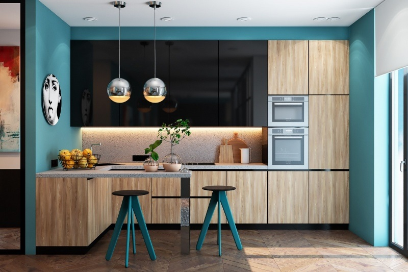 Ý tưởng cây xanh trang trí phòng bếp nhỏ
