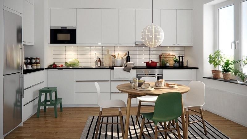 Mẫu phòng bếp sang trọng, tinh tế phù hợp với nhiều gia đình hiện đại