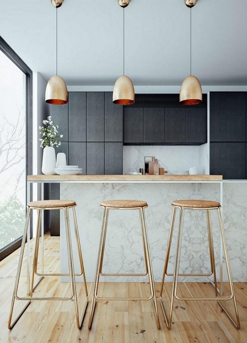 Phong cách trang trí phòng bếp hiện đại, tối giản