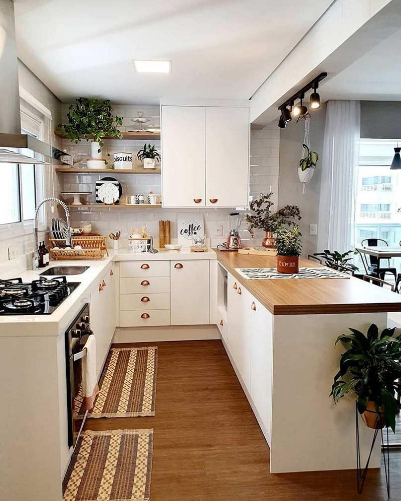 Mẫu phòng bếp chung cư tối giản toát lên vẻ đẹp tinh tế phù hợp với mọi gia đình