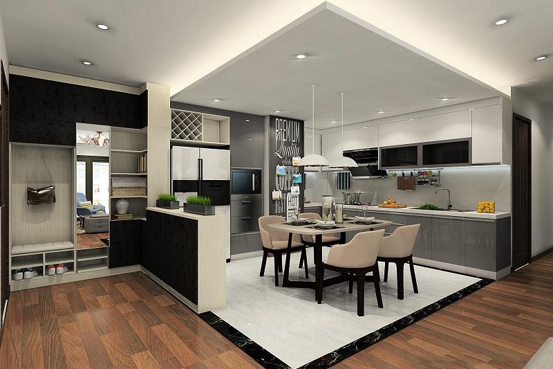 Phong cách trang trí phòng bếp hiện đại