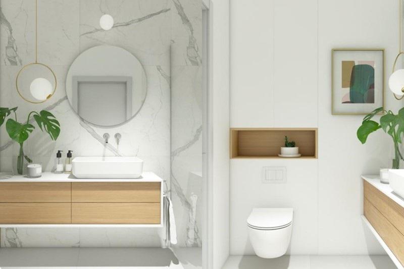 Thiết kế tủ đựng đồ có ngăn kéo tích hợp với bồn rửa hiện đại