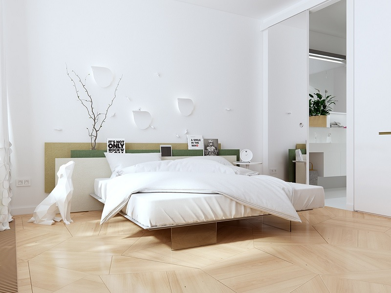 Xây phòng ngủ đẹp với phong cách tối giản