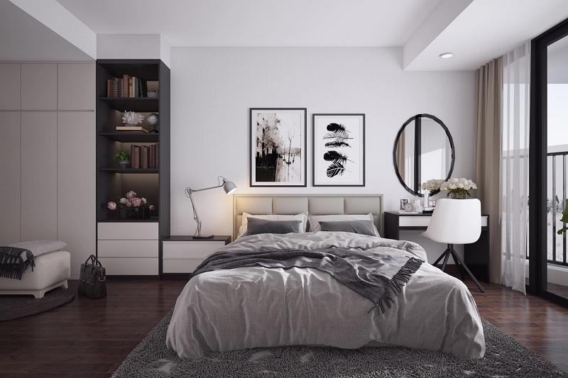 Xây phòng ngủ đẹp với phong cách hiện đại