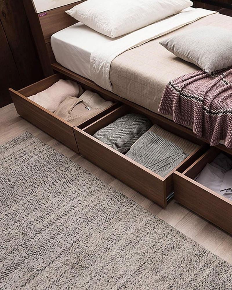 Tận dụng không gian gầm giường
