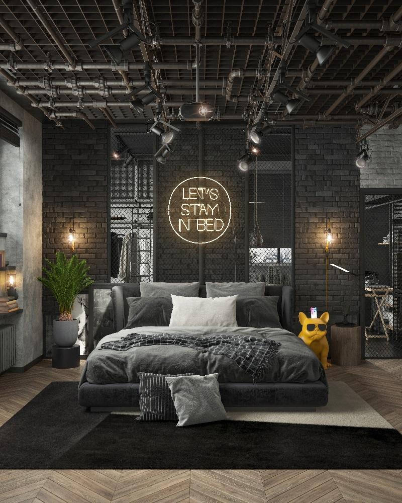 Thiết kế phòng ngủ đẹp cho nam