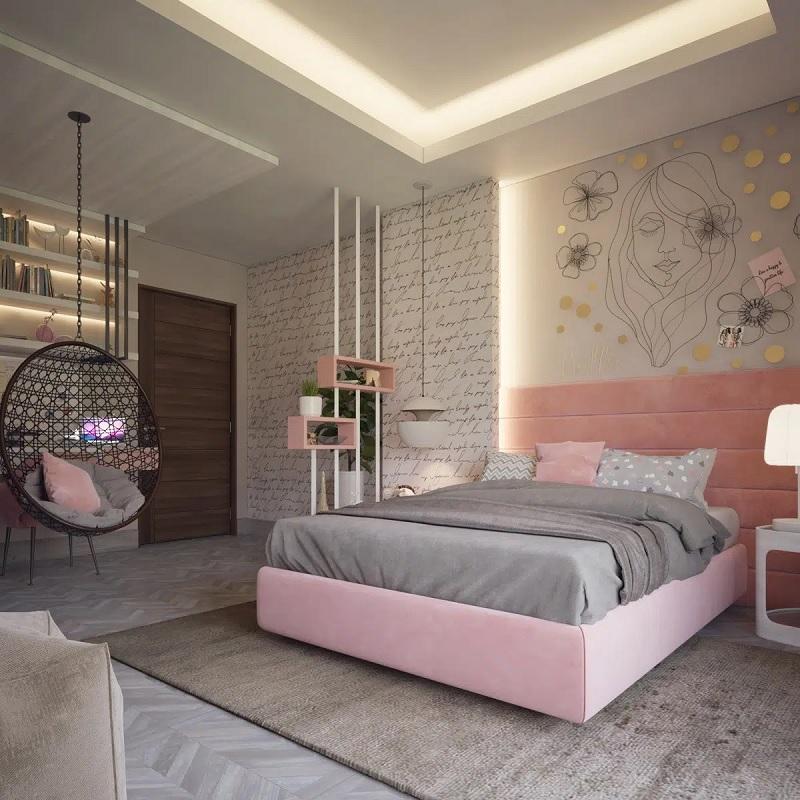 Thiết kế phòng ngủ đẹp cho nữ