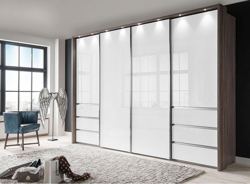 Tủ đựng quần áo gỗ Acrylic cho phòng ngủ