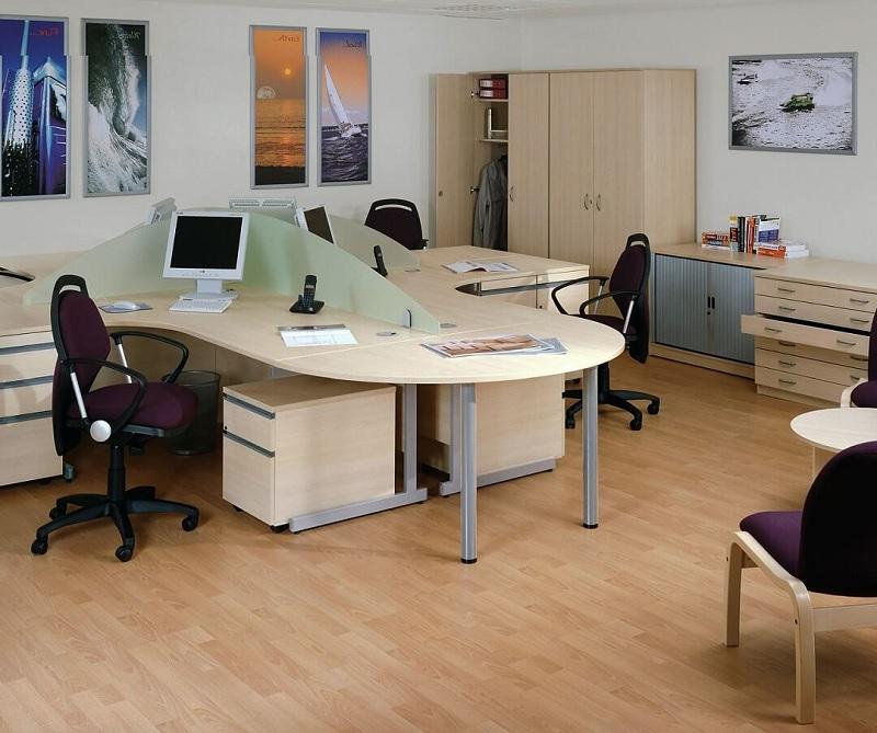 Bàn làm việc gỗ Acrylic cho văn phòng