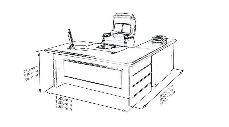 Kích thước bàn làm việc cho giám đốc