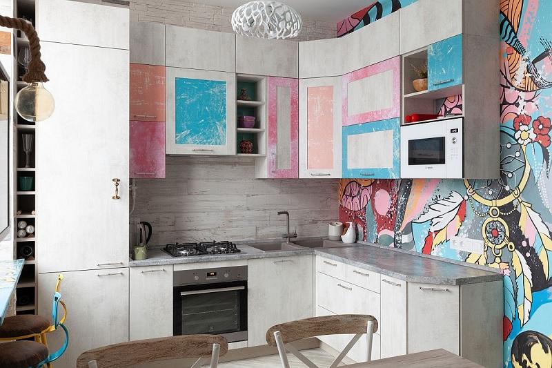 Biến căn bếp trở thành một tác phẩm nghệ thuật với nhiều gam màu sinh động