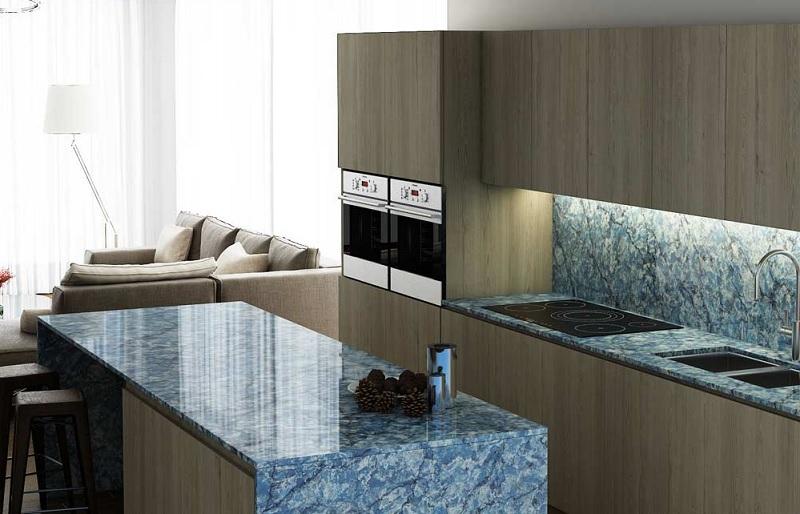 Đá cẩm thạch là chất liệu tuyệt vời khi thiết kế bàn bếp trong bất kỳ nhà bếp nào.