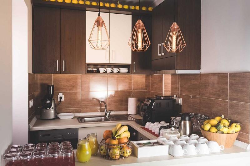 Mang sự hiện đại vào trong căn bếp với đèn trang trí sáng tạo