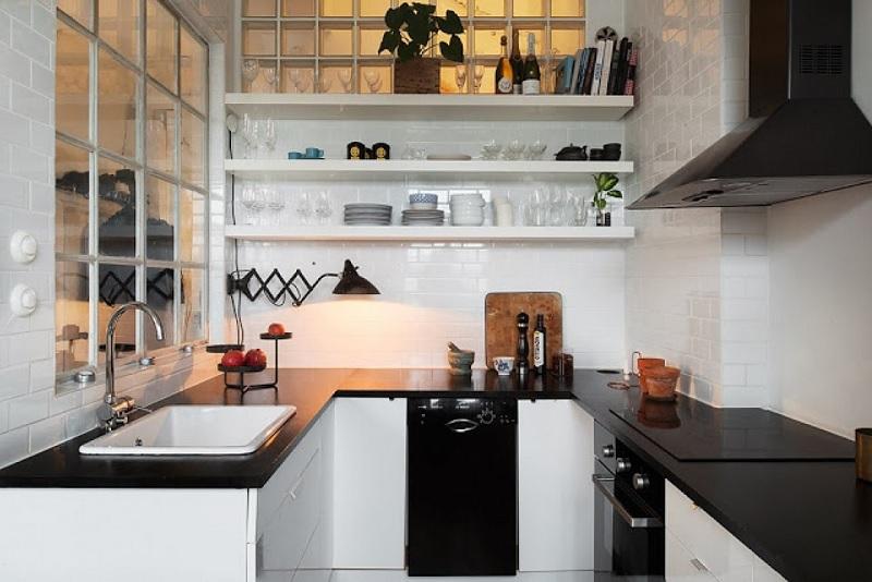 Mẫu nhà bếp đơn giản nhà cấp 4 thông thoáng