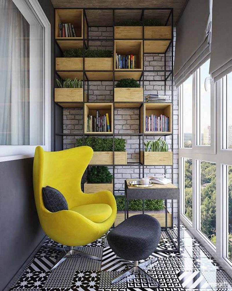 Mẫu ghế thư giãn hiện đại cho ban công chung cư khá biệtac