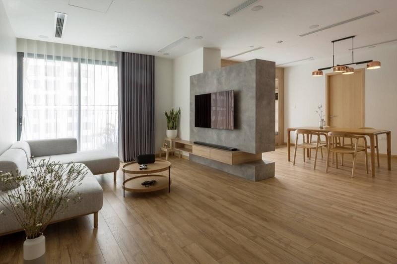 Mẫu phòng khách tối giản nhưng mang hơi thở của sự hiện đại, nhẹ nhàng