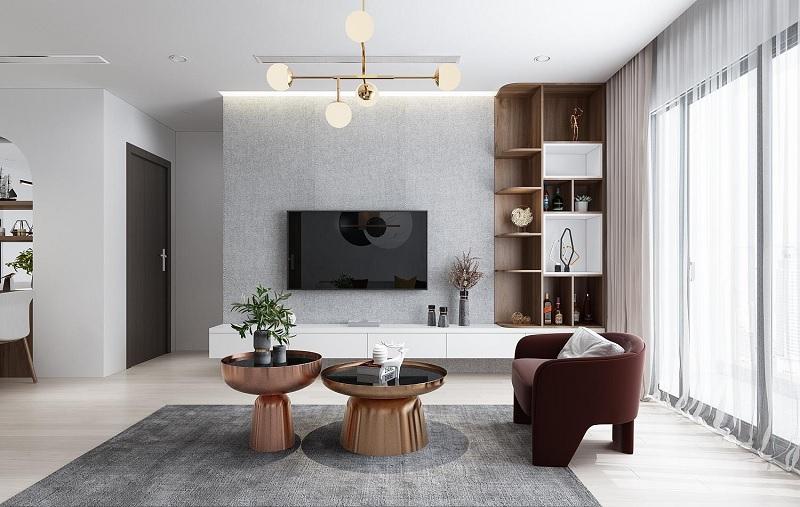 Mẫu phòng khách hiện đại phù hợp với nhiều gia đình Việt