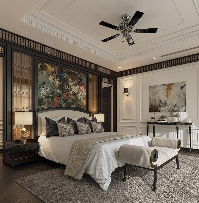 Design phòng ngủ phong cách Indochine