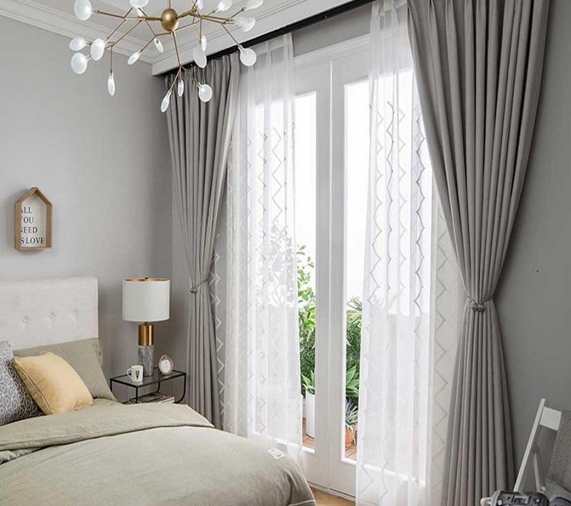 Décor phòng ngủ với rèm cửa